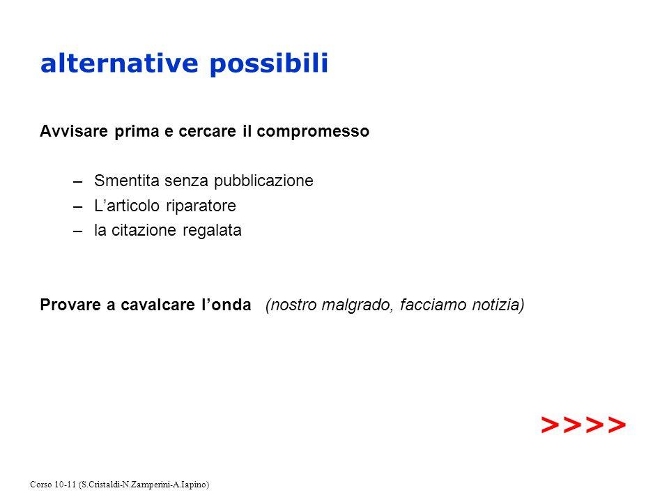 alternative possibili