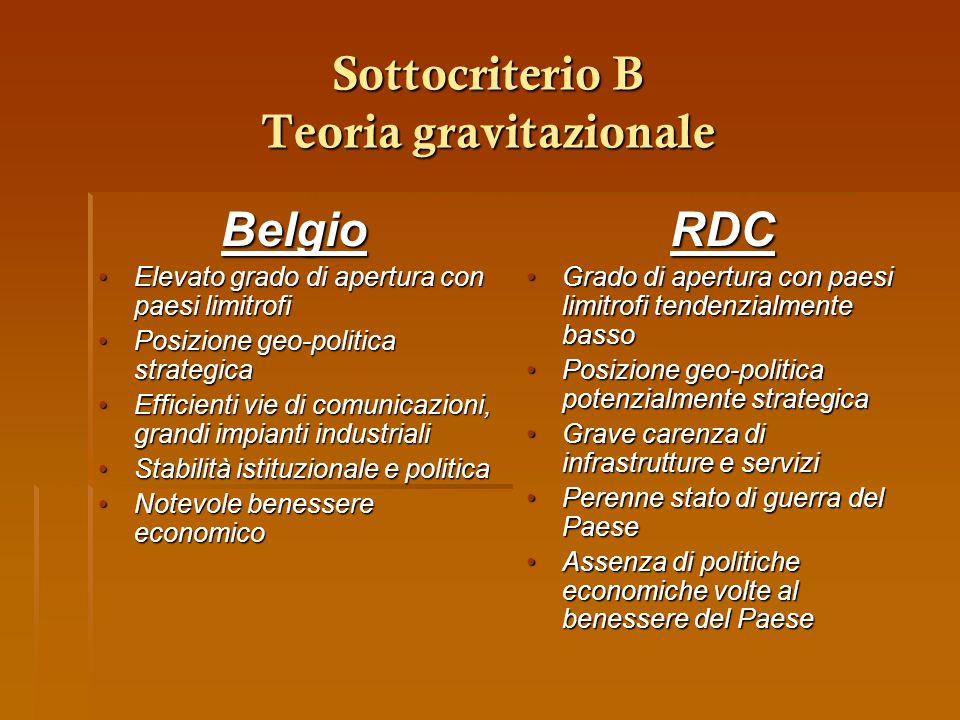 Sottocriterio B Teoria gravitazionale