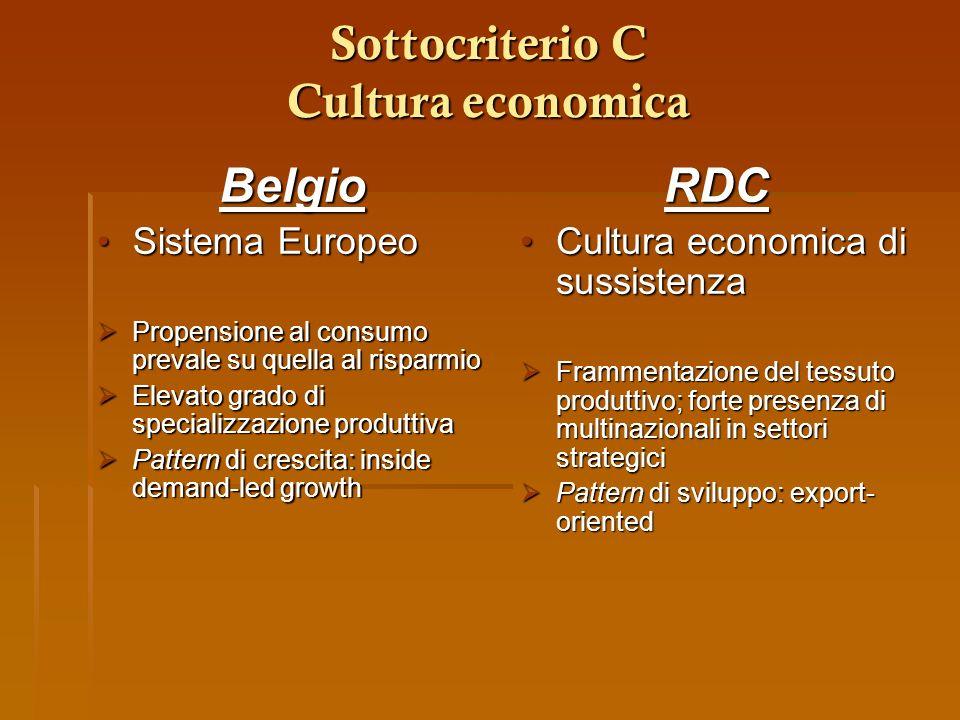 Sottocriterio C Cultura economica