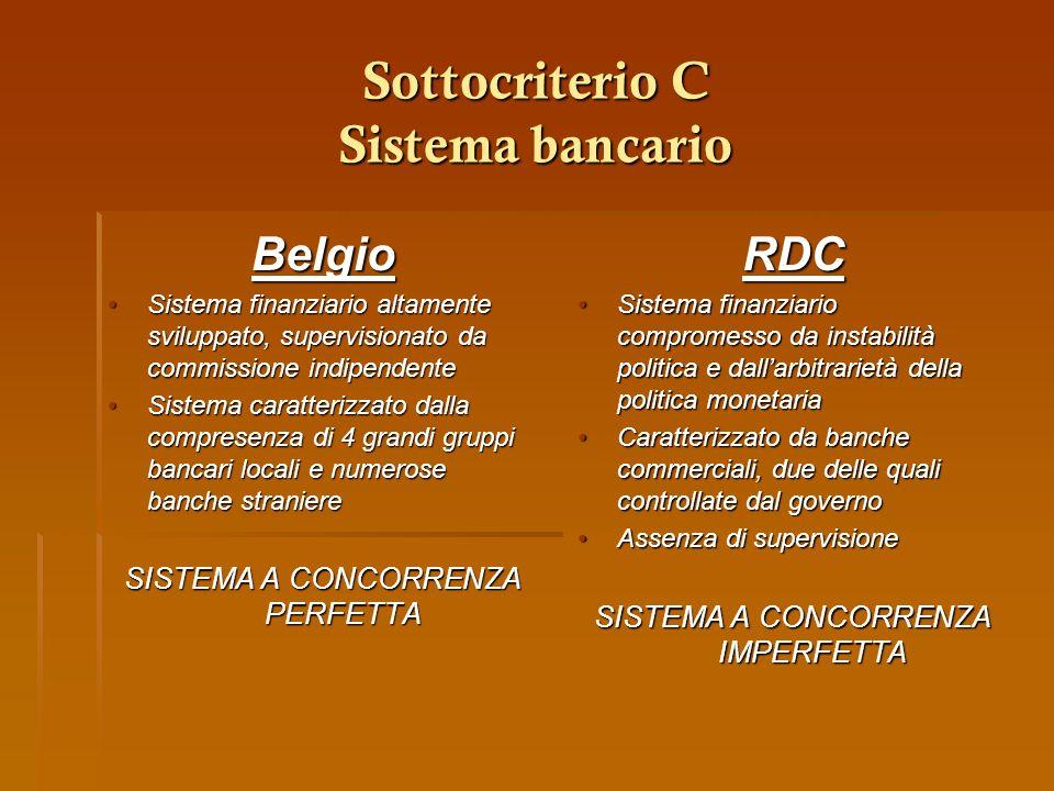 Sottocriterio C Sistema bancario