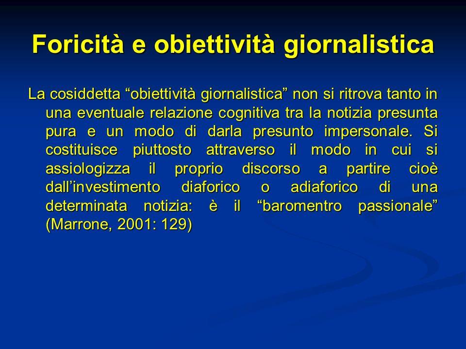 Foricità e obiettività giornalistica