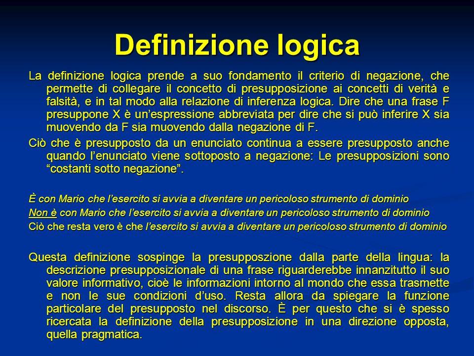 Definizione logica