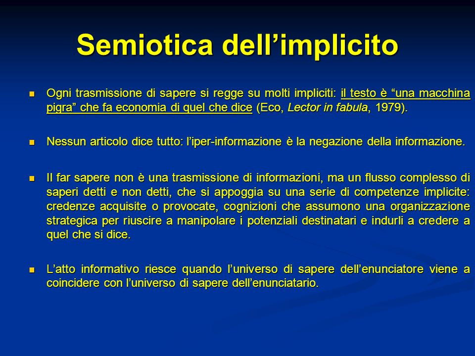 Semiotica dell'implicito