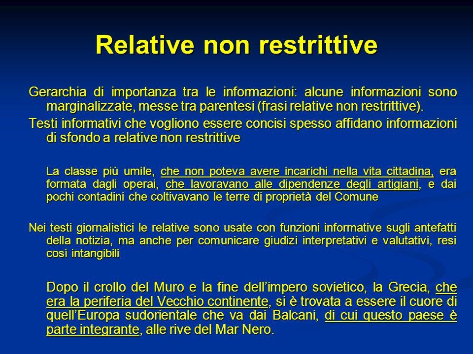 Relative non restrittive