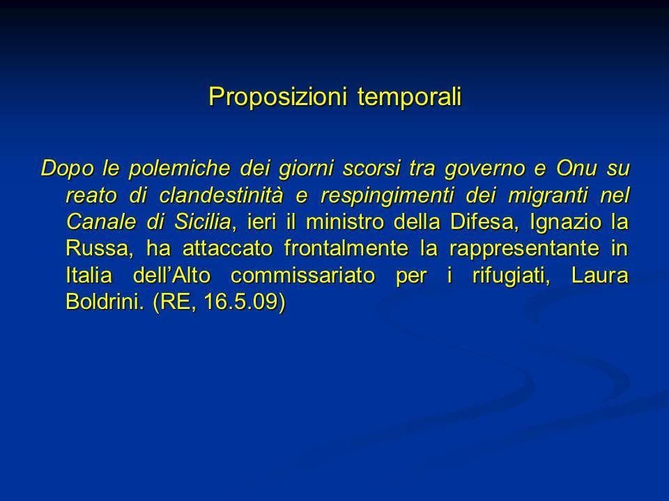 Proposizioni temporali