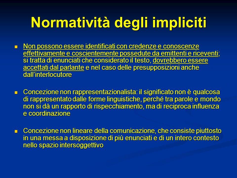 Normatività degli impliciti