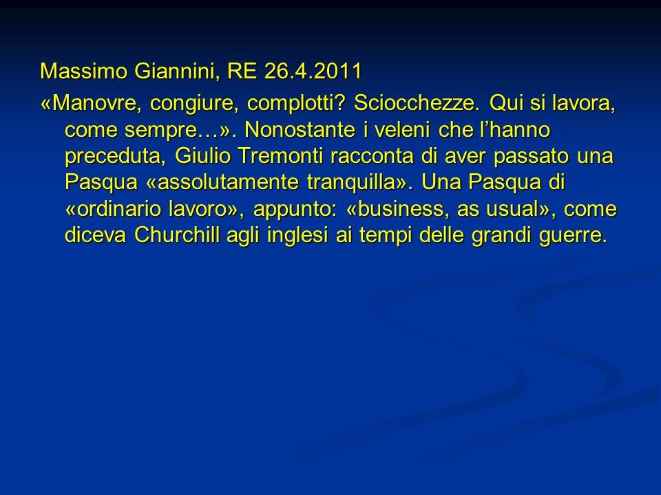 Massimo Giannini, RE 26.4.2011