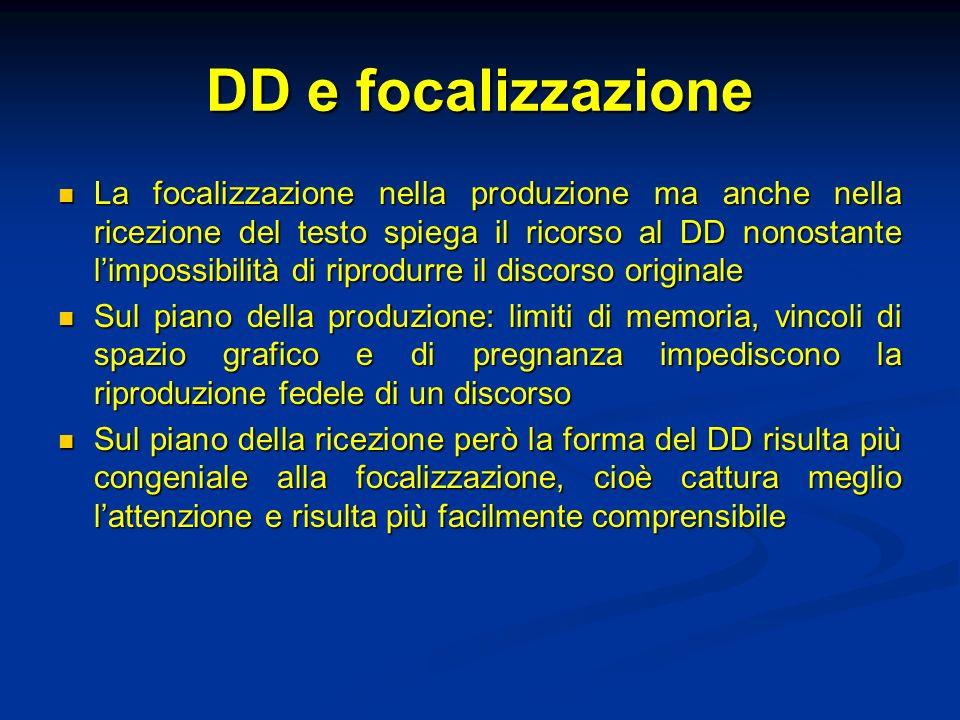 DD e focalizzazione