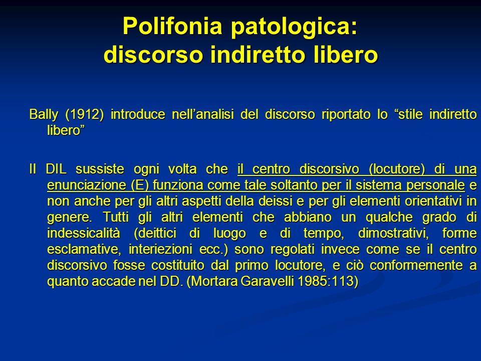 Polifonia patologica: discorso indiretto libero
