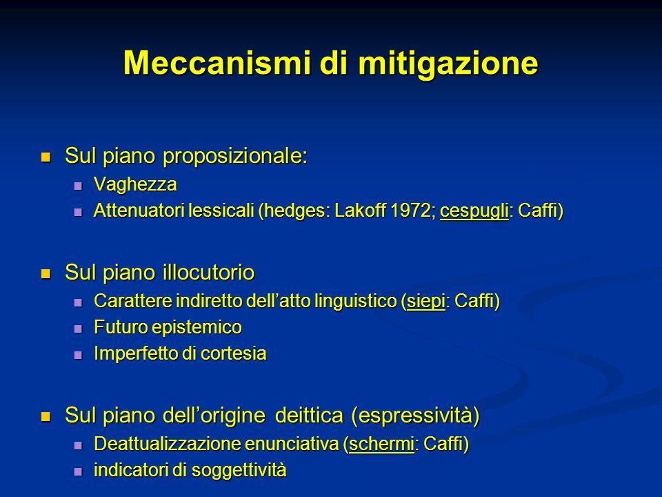 Meccanismi di mitigazione