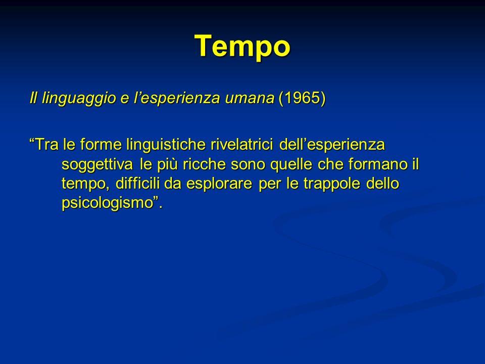 Tempo Il linguaggio e l'esperienza umana (1965)