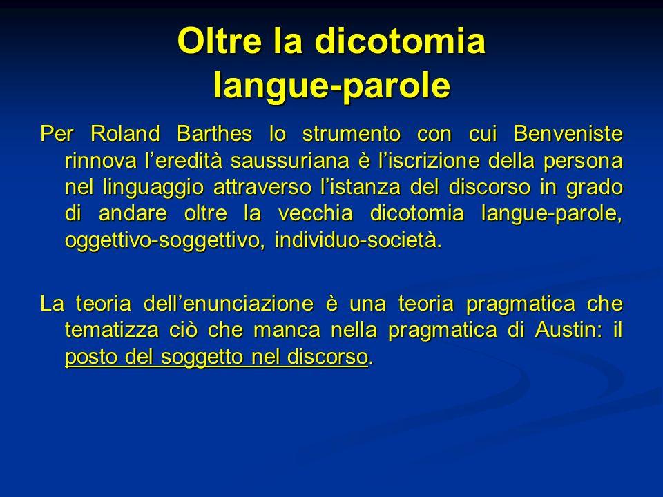 Oltre la dicotomia langue-parole