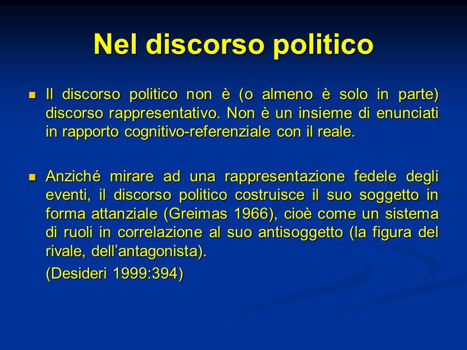 Nel discorso politico