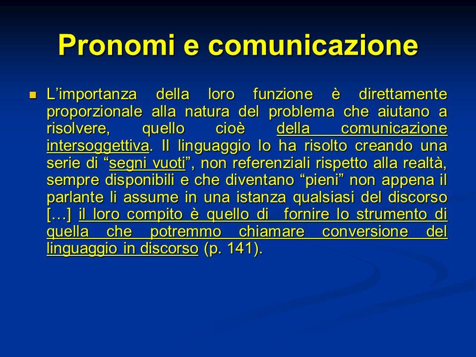 Pronomi e comunicazione