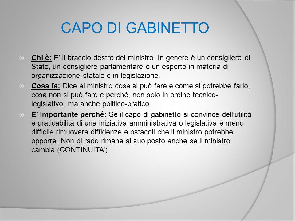 CAPO DI GABINETTO