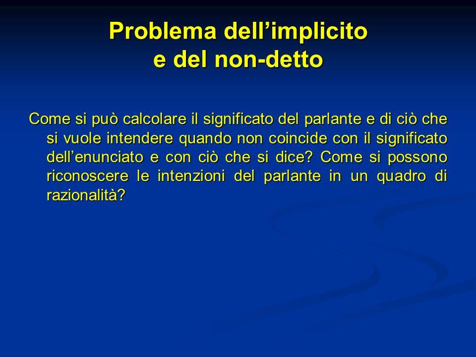 Problema dell'implicito e del non-detto
