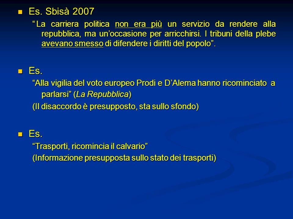 Es. Sbisà 2007