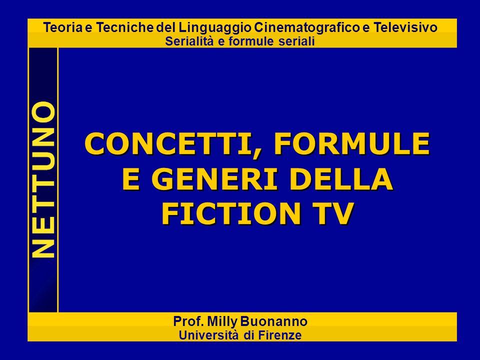 CONCETTI, FORMULE E GENERI DELLA FICTION TV