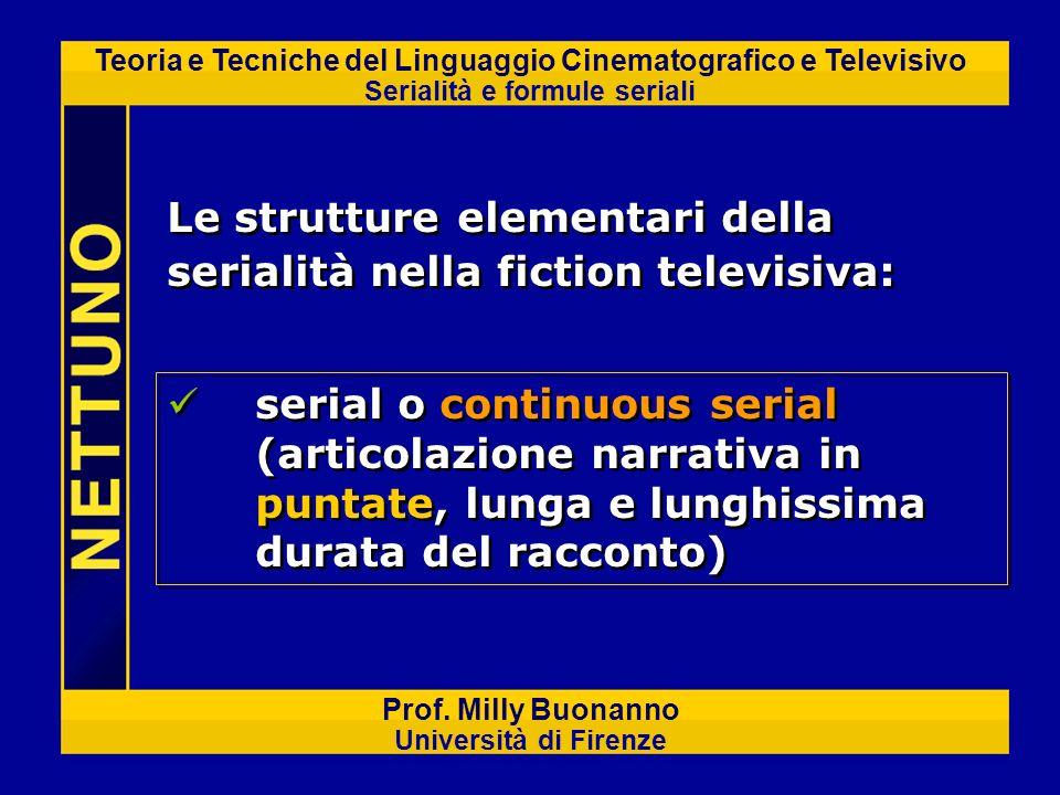 Le strutture elementari della serialità nella fiction televisiva: