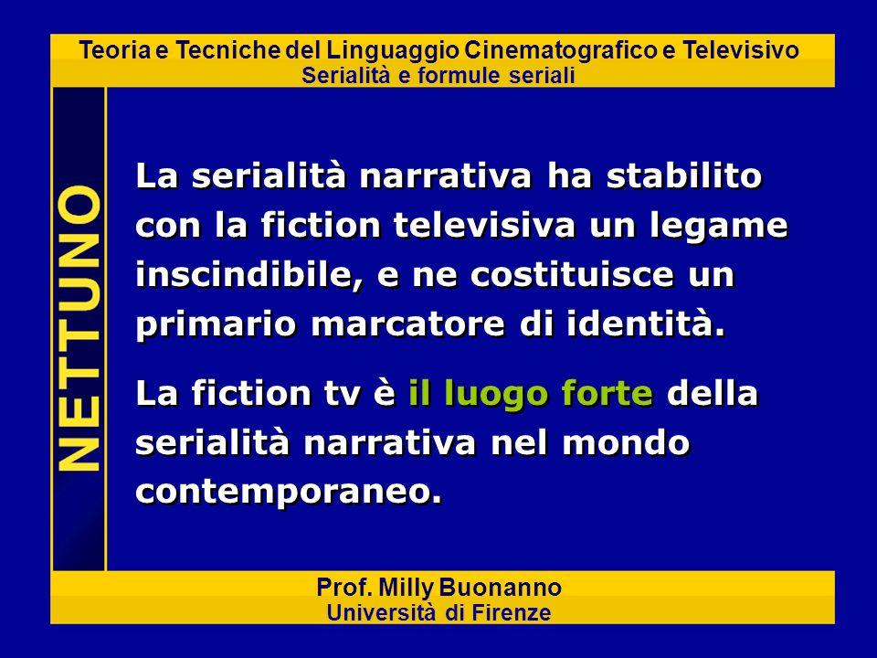 La serialità narrativa ha stabilito con la fiction televisiva un legame inscindibile, e ne costituisce un primario marcatore di identità.