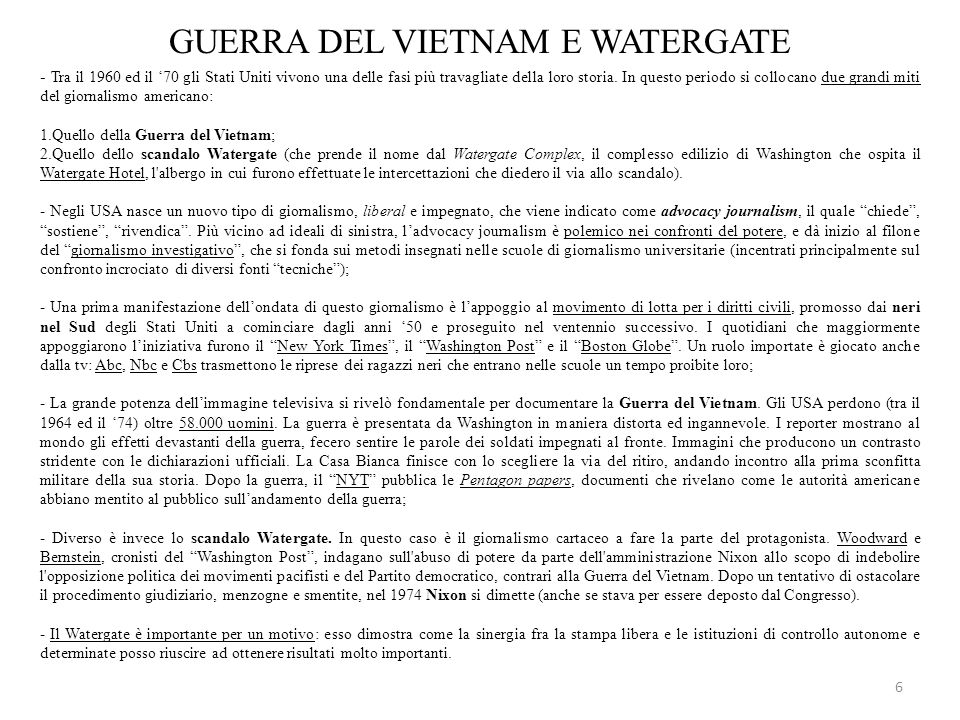GUERRA DEL VIETNAM E WATERGATE