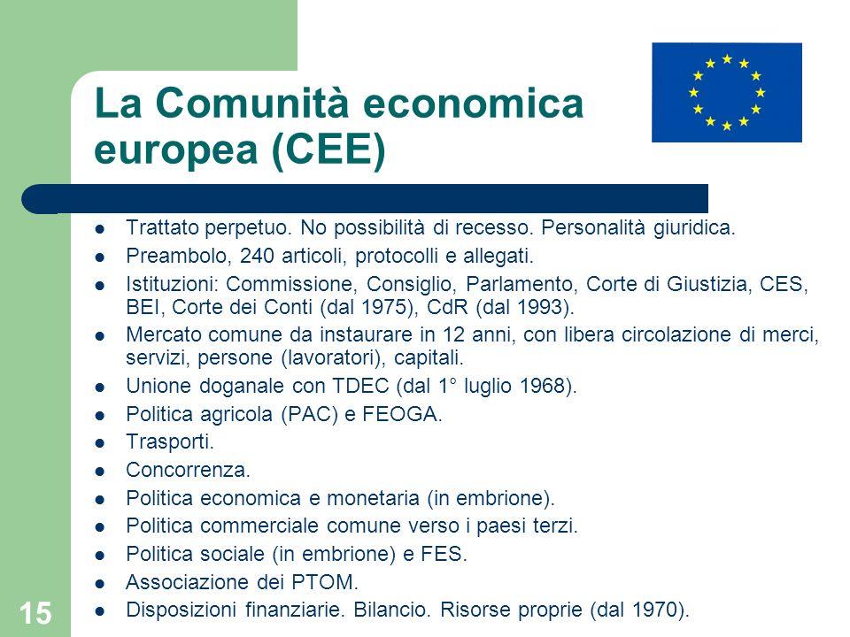 La Comunità economica europea (CEE)