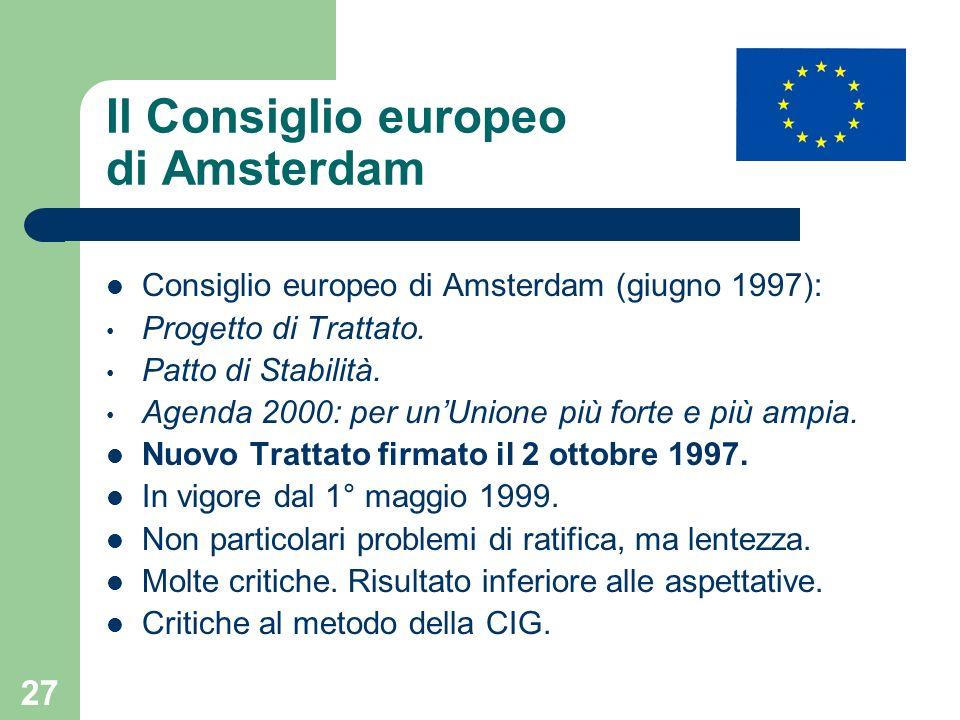 Il Consiglio europeo di Amsterdam