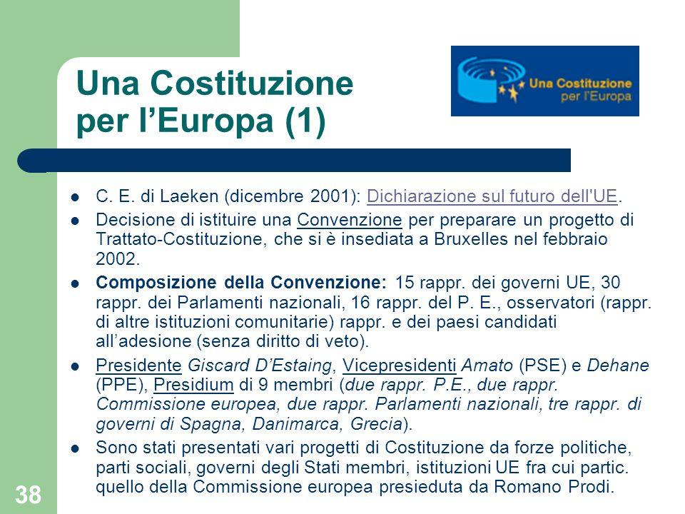 Una Costituzione per l'Europa (1)