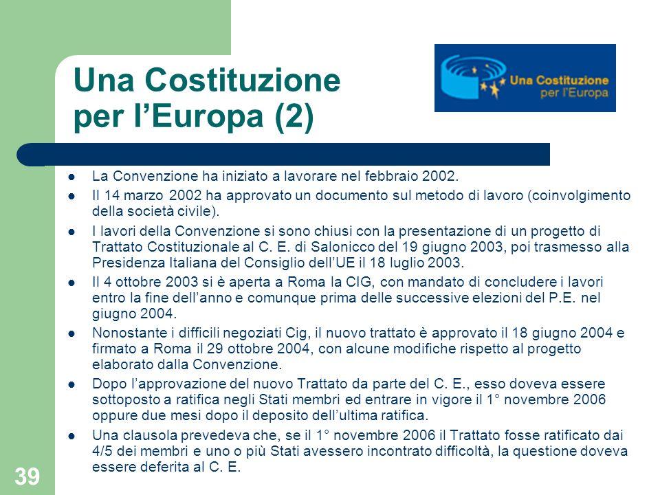 Una Costituzione per l'Europa (2)