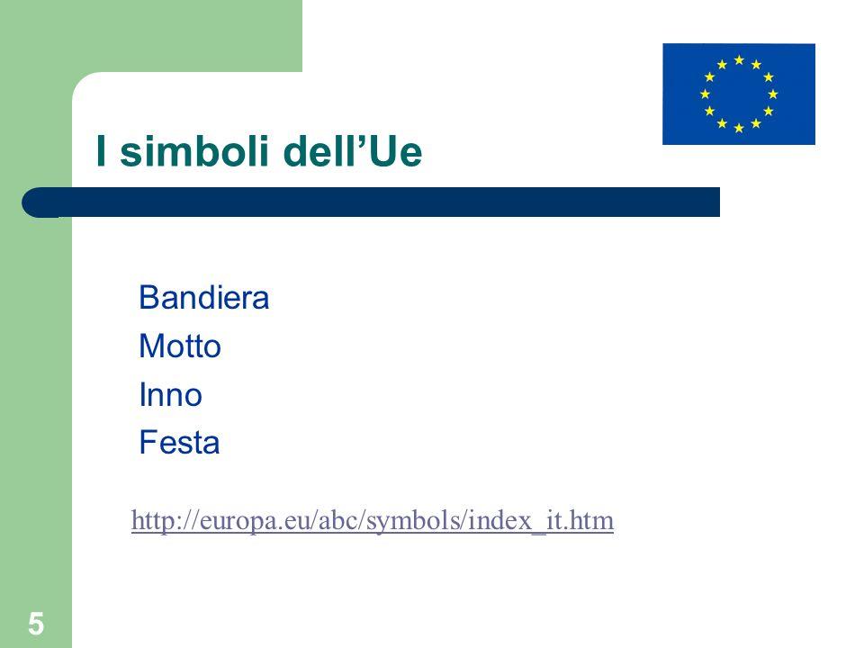I simboli dell'Ue Bandiera Motto Inno Festa