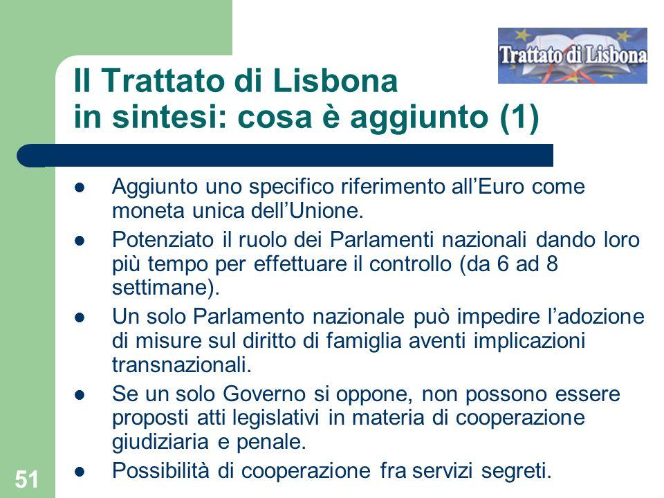 Il Trattato di Lisbona in sintesi: cosa è aggiunto (1)