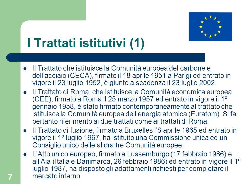 I Trattati istitutivi (1)
