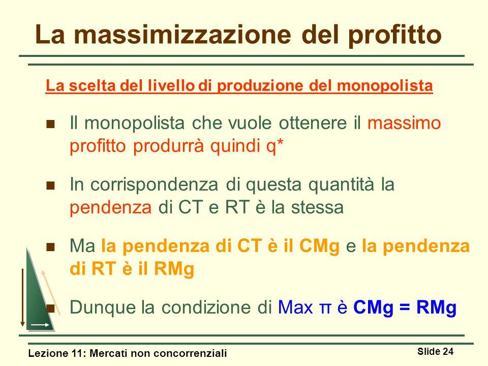 La massimizzazione del profitto