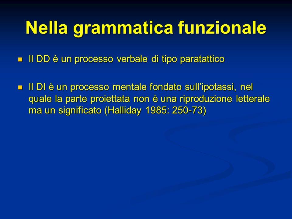 Nella grammatica funzionale
