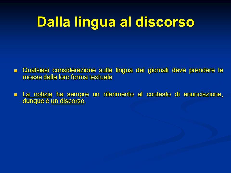 Dalla lingua al discorso