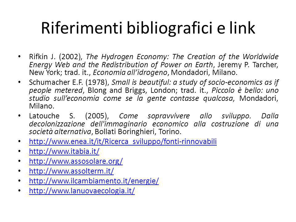 Riferimenti bibliografici e link