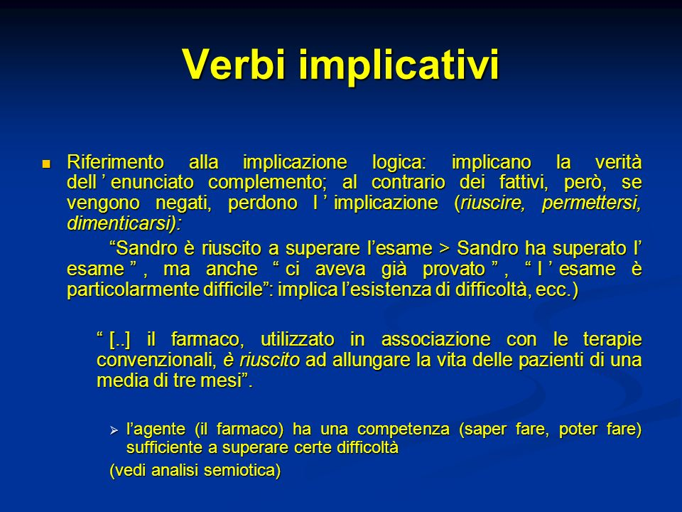 Verbi implicativi