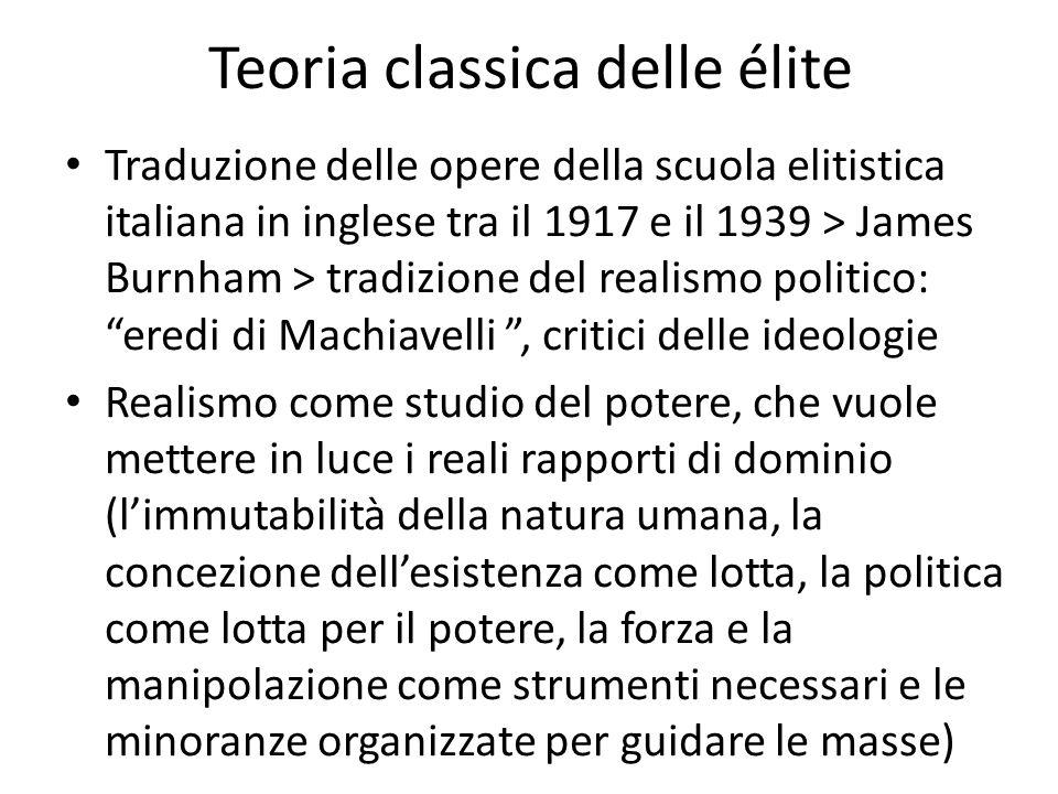 Teoria classica delle élite