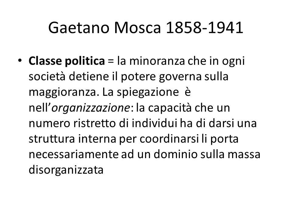 Gaetano Mosca 1858-1941