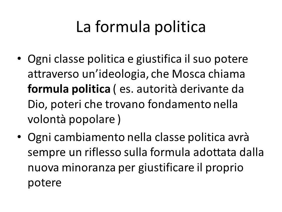 La formula politica
