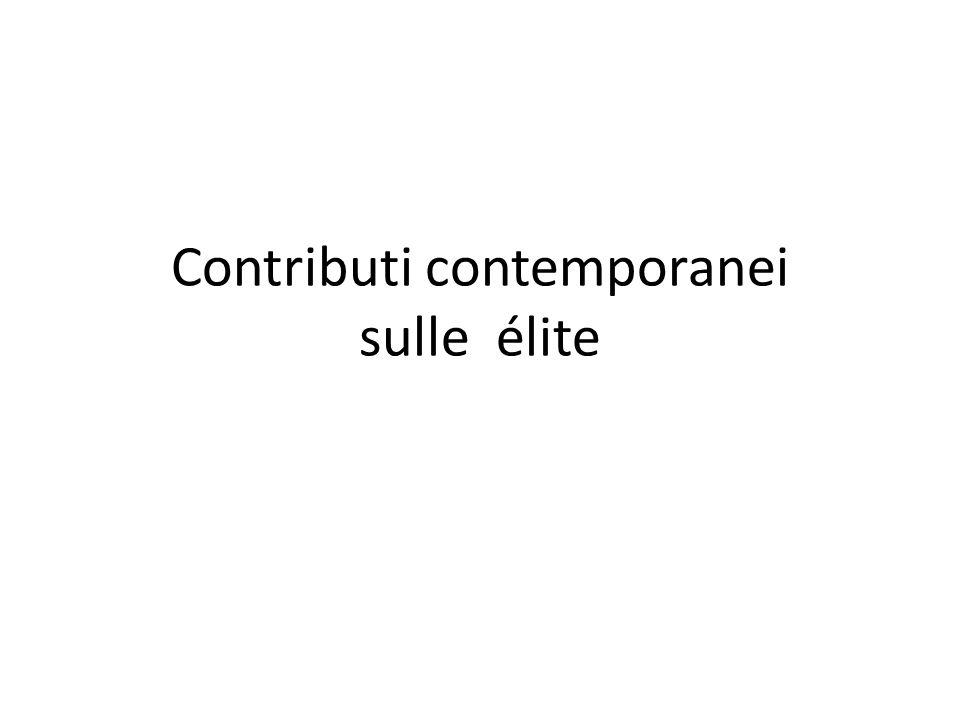 Contributi contemporanei sulle élite