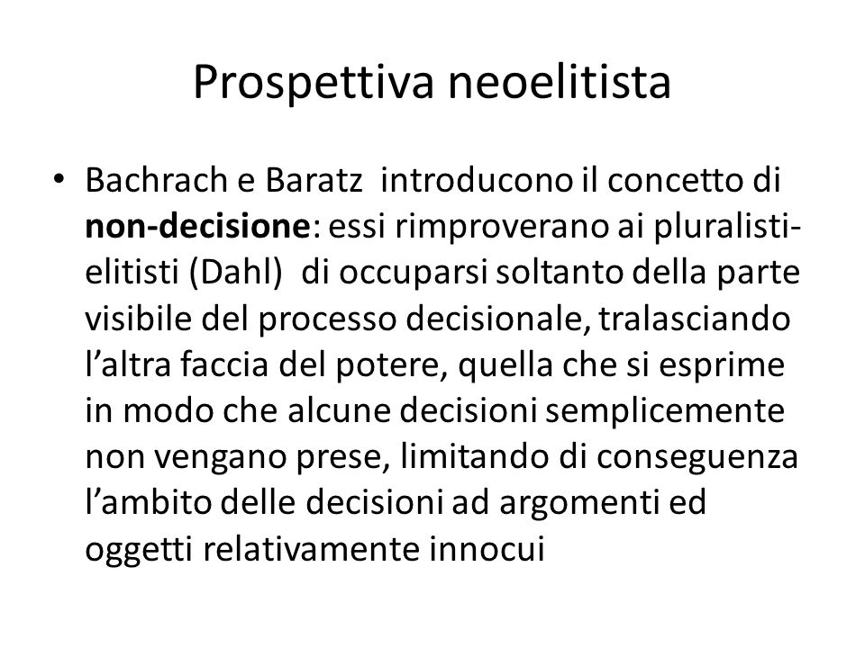 Prospettiva neoelitista