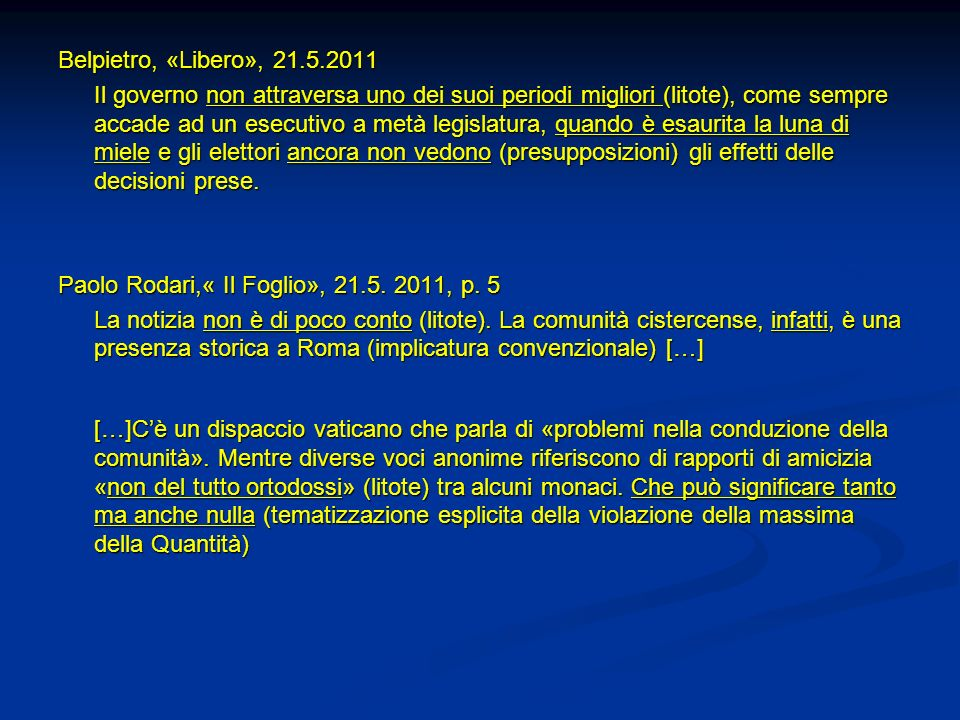 Belpietro, «Libero», 21.5.2011