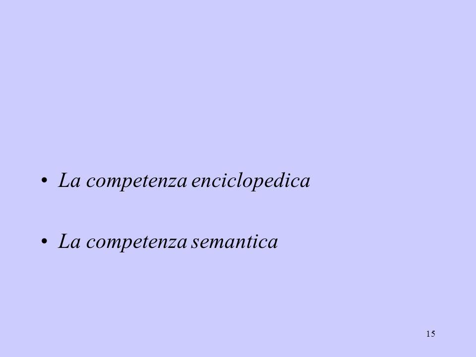 La competenza enciclopedica