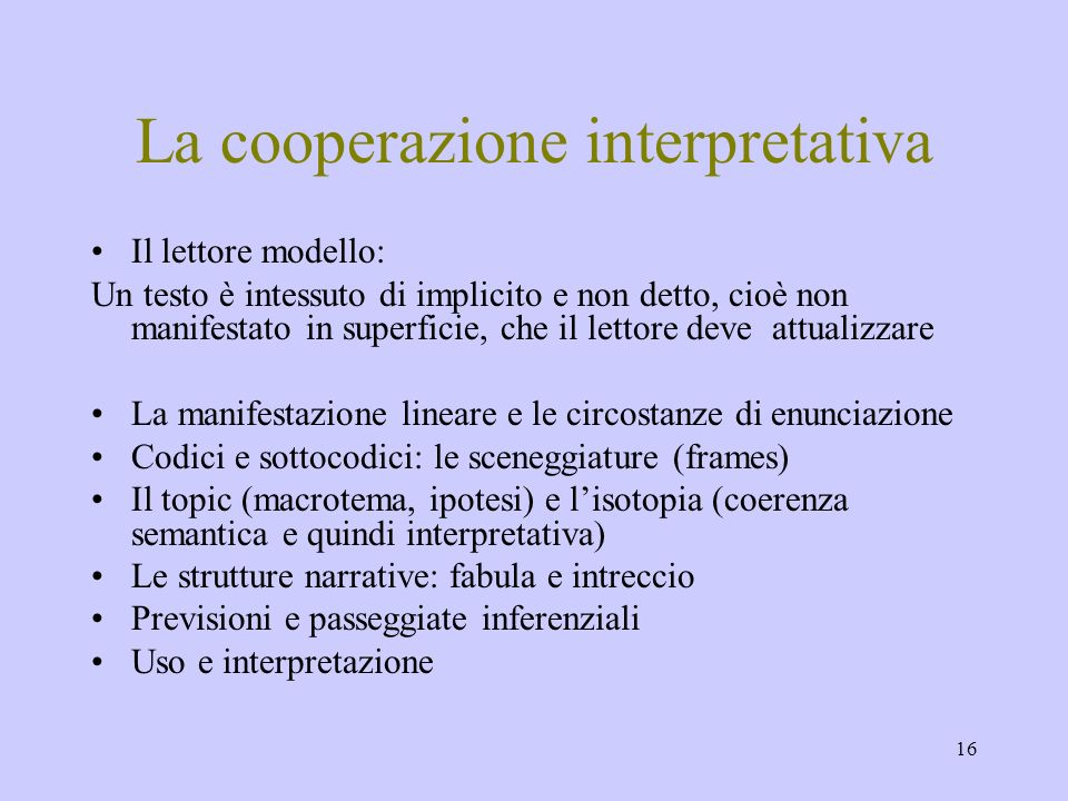 La cooperazione interpretativa