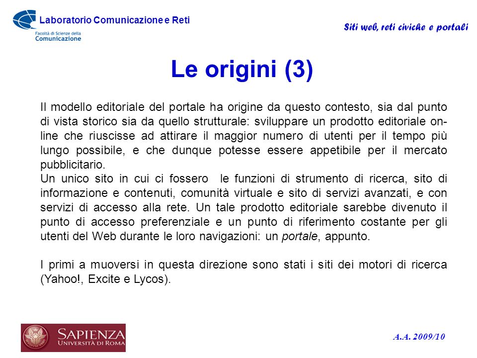 Le origini (3)
