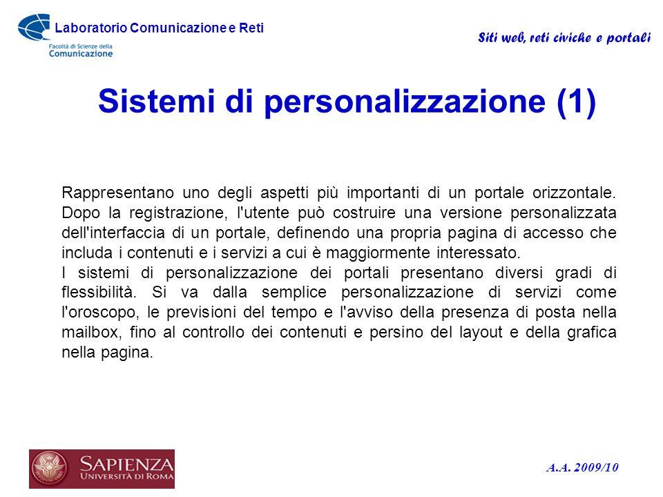 Sistemi di personalizzazione (1)