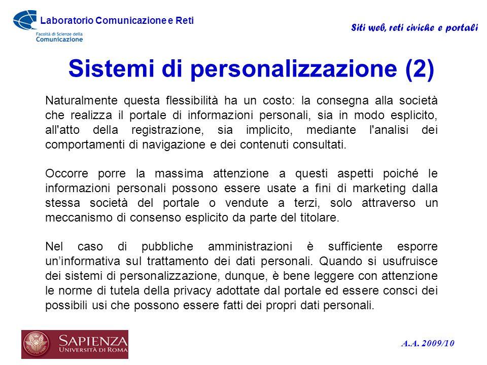 Sistemi di personalizzazione (2)