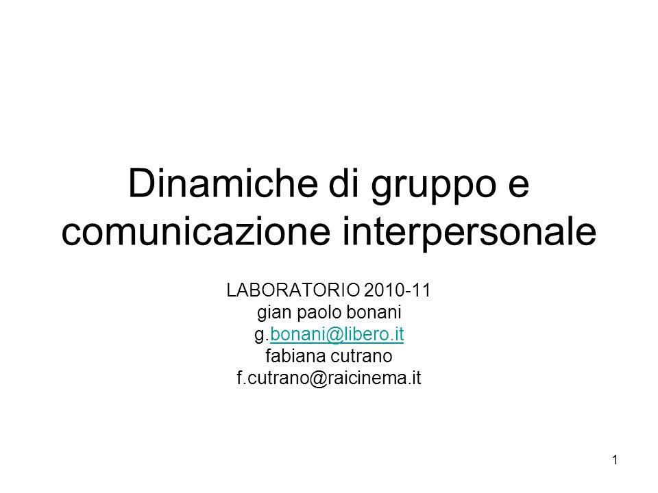 Dinamiche di gruppo e comunicazione interpersonale