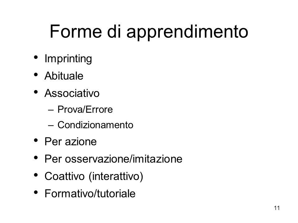 Forme di apprendimento